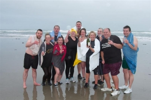 Doughty dippers brave the waves for charity