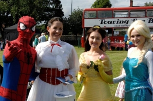 Characters and colour at Noble's Park Fun Day