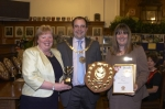 The Mayor and Mayoress with winners of Douglas in Bloom 2012