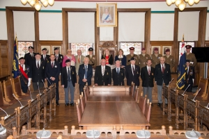 Reception for visiting service personnel