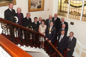 Mayor hosts reception for Steam Packet captains