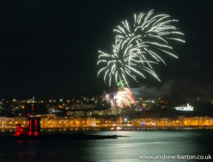 Spectacular fireworks display sponsored by Celton Manx