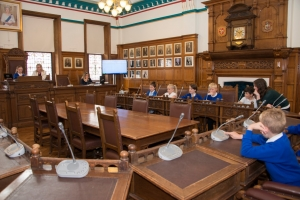Town hall hosts Onchan School student council meeting