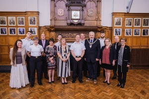 HMS Vigilant personnel welcomed to Town Hall