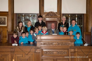 Mayor welcomes Laxey Beaver Scouts