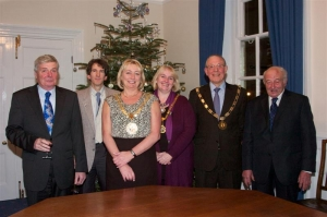 Commissioners' chairmen welcomed to the Mayor's parlour