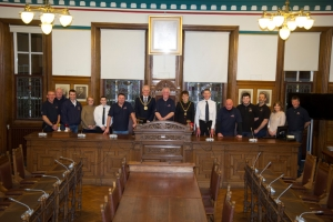 Reception for Douglas lifeboat crew members