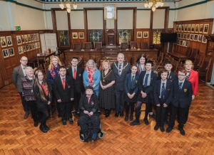 Mayor recognises schools' Remembrance Sunday artwork project