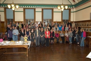 Relay for Life entrants and supporters in the council chamber at Douglas town hall