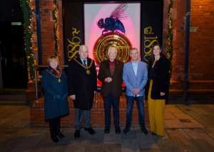 Mayor and Mayoress visit Midsummer Chronophage's new 'home'