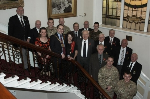 Mayor hosts reception for 12th Regiment