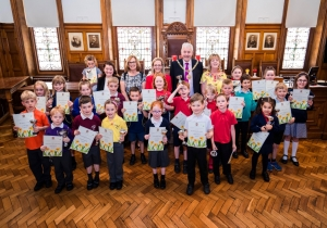 Douglas primary school children's green-fingered talent recognised