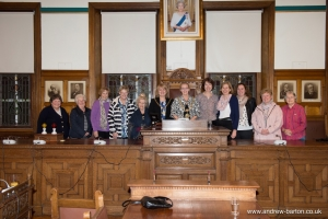 St Ninian's Mothers' Union members meet the Mayor