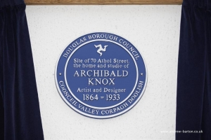 Blue plaque unveiled in honour of Archibald Knox