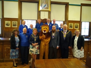 Lions Club members welcomed to the Town Hall