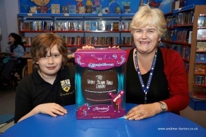 What a choc: 10-year-old Toby wins giant Easter egg